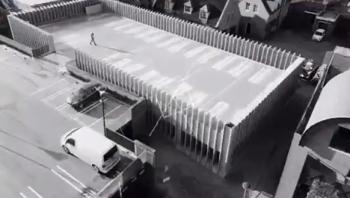 Drone beelden Parkeergarage De Bonte Koe, Nijkerk